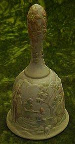 Lefton porcelain nativity bell O come all ye faithful