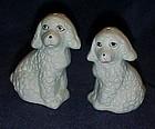 Ceramic poodles salt and pepper shakers