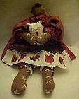 Black lady gingerbread baker rag doll