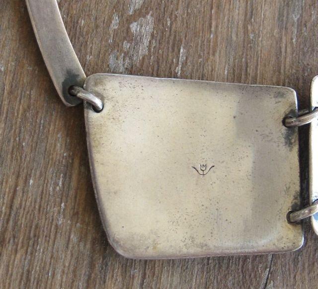 Vintage Modernist FRIDL Sterling Necklace and Earrings