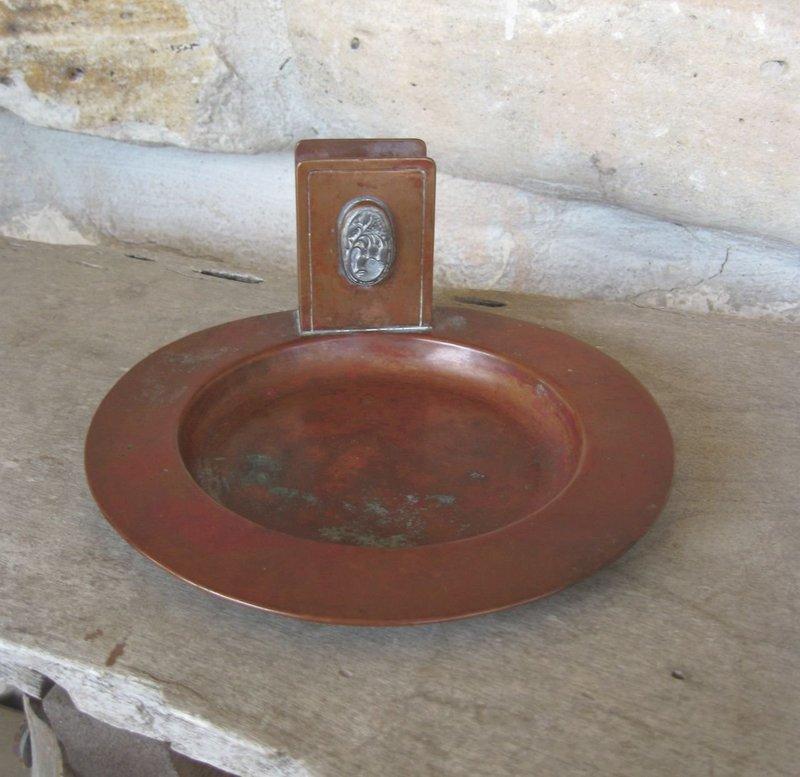 Potter Studio Arts & Crafts Hammered Copper Tray