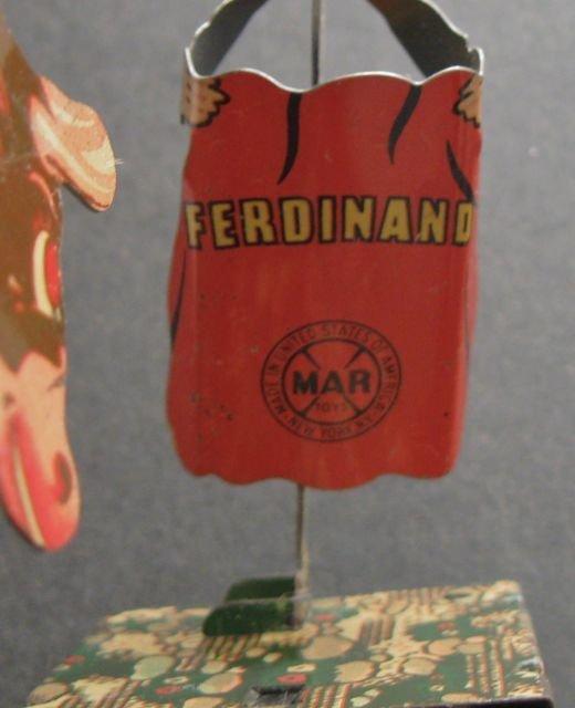 1938 Walt Disney Tin Wind-up Ferdinand & Matador Toy