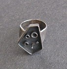 Vintage Modernist Walter Wright Abstract Sterling Silver Ring