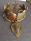 Casa Maya Mexico Copper Brass Enamel Kiss Bracelet