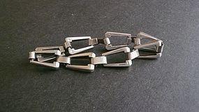 Vintage Sterling Silver Modernist Gra Wun Ray Graves Link Bracelet
