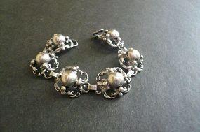 Vintage Guglielmo CINI Sterling Silver Link Bracelet