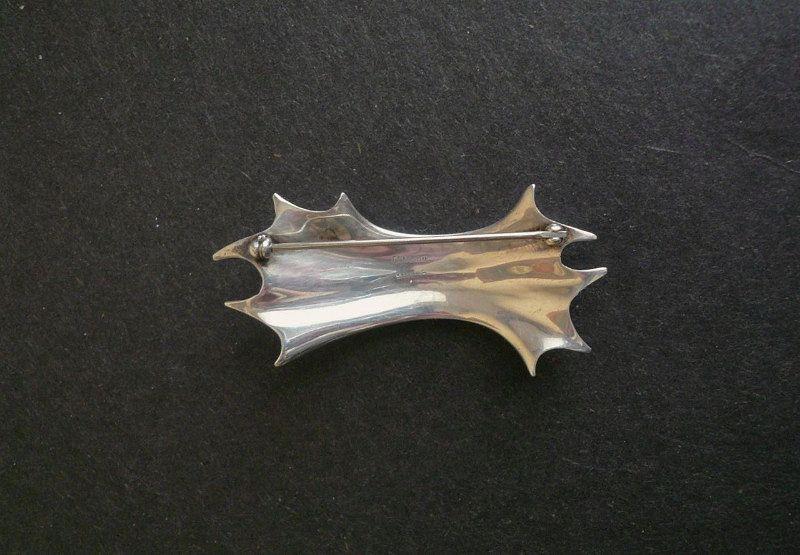 Ronald Pearson Sterling Silver Unusual Modernist Brooch
