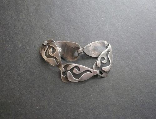 Vintage phyllis Sklar Sterling Modernist Bracelet Mid Century