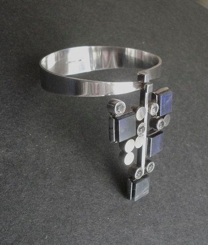 Elis Kauppi Kupittaan Kulta Finland Modernist Bracelet Sterling