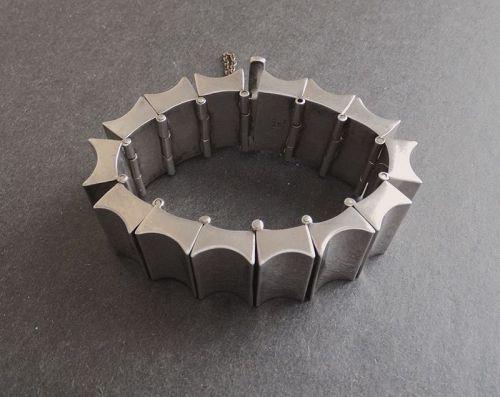 Antonio Pineda Design Concave Taxco Heavy Sterling Bracelet 162gr