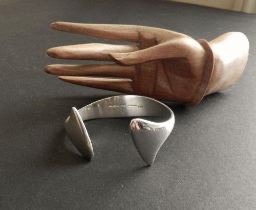 Hans Hansen Modernist Sterling Cuff Bracelet #213 Bent Gabrielsen