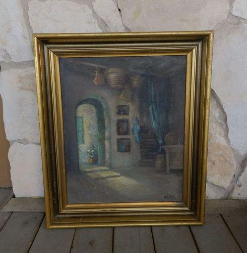 Maud Spiller Holt (1866-1952) Arkansas Artist Painting
