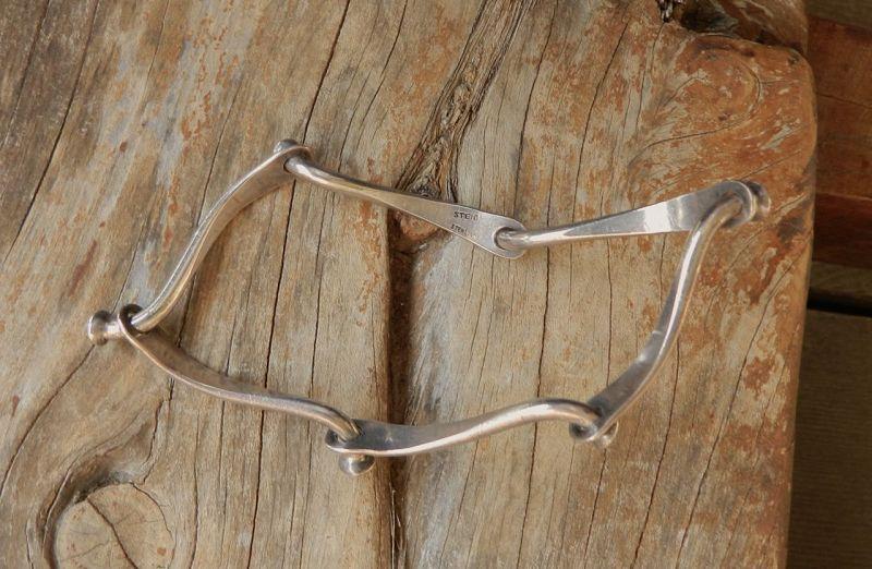 Vintage Henry Steig Modernist Sterling Silver Bracelet Riveted Bangle