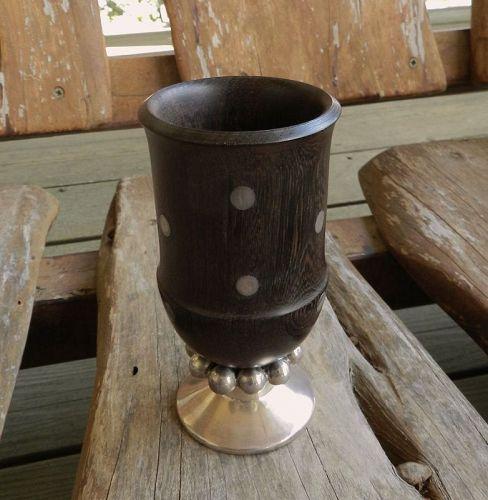 William Spratling Sterling Ebony Modernist Cup Goblet Taxco 1951-67