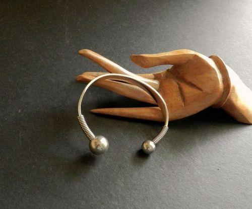 Janiye Miye Matsukata Sterling Cuff Bracelet from her Estate 950 Japan