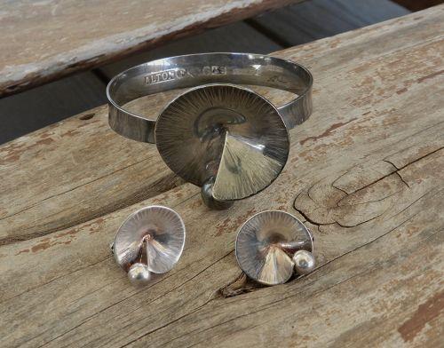 Alton Sweden Ruffle Bracelet &/Or Earrings Sterling K E Palmberg