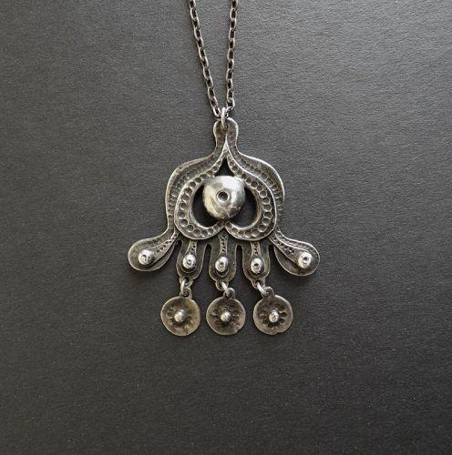 Modernist Seppo Tamminen Finland Heavy Rare Sterling Necklace 1972