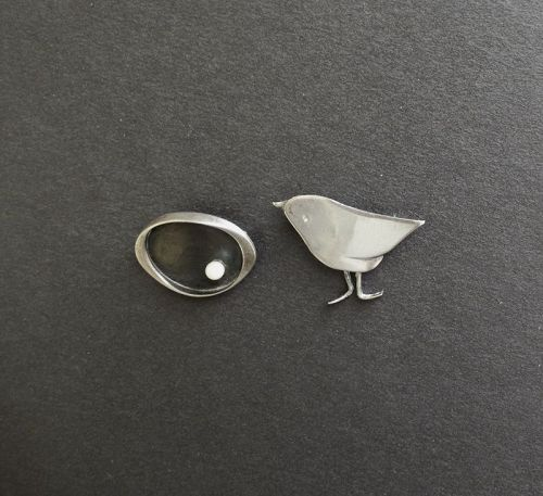 Frances Holmes Boothby fhb Sterling Your Choice Bird or Brooch w/Pearl