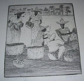 HIRST MILHOLLEN, ETCHINGS OF HAITI, 1937