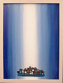 HENRY KALLEM, MONHEGAN I, ORIGINAL OIL ON PANEL, 1966