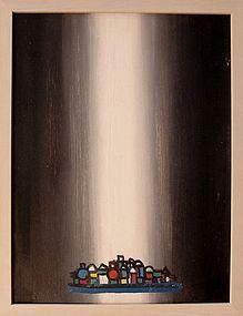HENRY KALLEM, MONHEGAN III, OIL ON PANEL, 1966