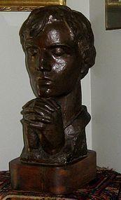 """IRMA ROTHSTEIN """"PRAYER"""" BRONZE SCULPTURE CIRCA 1938-1940"""
