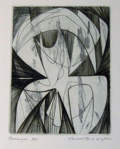 "WENDELL H. BLACK ""ARCHANGEL"" COPPER ENGRAVING 1965"