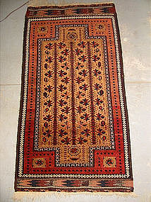 Antique Balouchi Double-Prayer rug