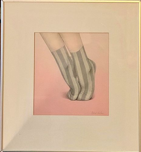RICHARD STENHOUSE UNTITLED ORIGINAL GRAPHITE AND PASTEL