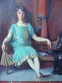 "Bertha Ballou, ""Portrait of Kitty"""