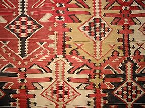 Antique Kuba Kilim, Nineteenth Century