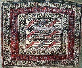 Antique Kurdish Bagface, 19th Century