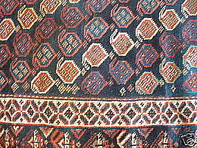 ANTIQUE LURI LONG RUG, SW PERSIA, CIRCA 1890