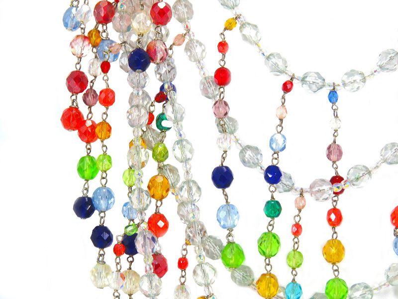 Giorgio Armani Runway Crystal Bib Necklace