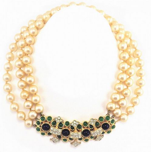 Vintage K.J.L .For Laguna Pearl Necklace