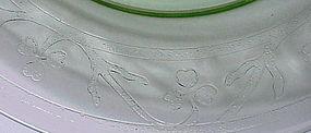 "Clover Leaf ""shamrock"" 8"" luncheon plate  -green"