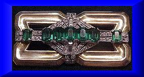 Mc Clland Barclay brooch ( Art Deco) - green