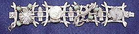 Har laughing smiling Asian man & dragon bracelet, Ivory