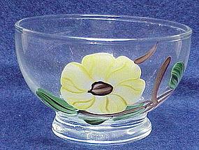 Blue Ridge 'Ridge Daisy' glass sherbet Southern Pottery