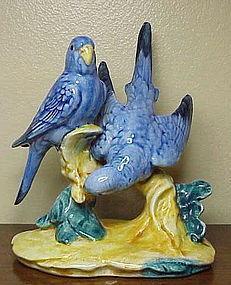 """Stangl Double Parakeets-Blue-No Box #3582D- 7""""-1941"""