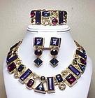 Trifari statement Necklace, bracelet & earrings