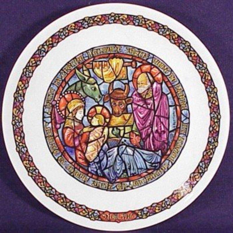 Noel Vitrail Nativity Christmas Plate 1976