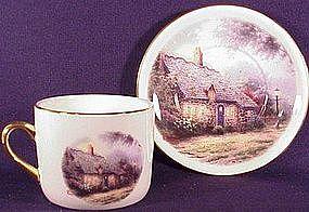 Thomas Kinkade Moonlight Cottage teacup saucer