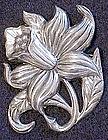 Danecraft sterling floral pin brooch