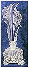 Czechoslovakia cut glass clear frosted perfume bottle