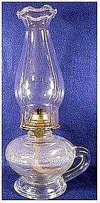 P & A Footed kerosene finger lamp