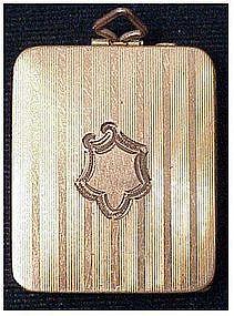 Vintage Antique rectangular gold filled locket