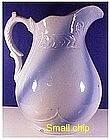 """Blue & White stoneware washstand 11"""" swirl  pitcher"""