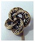 14K (tested) love knot stickpin / scarf pin