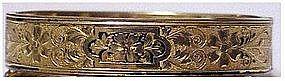 "Gold filled hinged bangle bracelet (no initials) 1/2"""